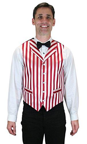 Historical Emporium Men's Ragtime Satin Striped Dress Vest