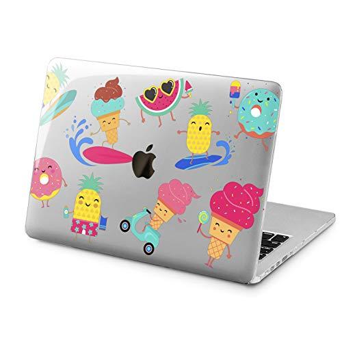(Lex Altern Clear Case for Apple MacBook Air 13 Mac Pro 15 inch Retina 12 11 2019 2018 2017 2016 2015 Cute Summer Food Funny Pineapple Ice-Cream Design Touch Bar)