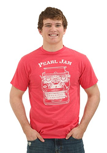 Ames Bros Clothing & Design mens Pearl Jam Pittsburgh Red Heather T-Shirt Small