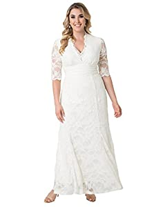 Kiyonna Women's Plus Size Amour Lace Wedding Gown