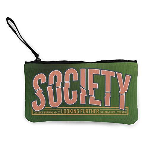 Terany Canvas Pencil Case - Society Durable Cosmetic