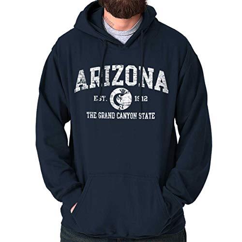 Diamondback Hooded Blue Sweatshirt - Arizona State Vintage EST Retro Hometown Hoodie Sweatshirt Navy