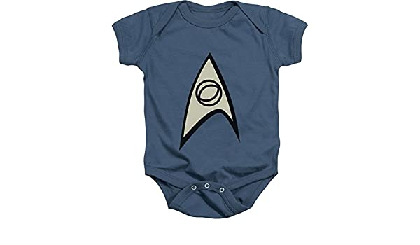 A/&E Designs Star Trek Engineering Uniform Scotty Creeper Romper Onesie Size 0-6 Months Red