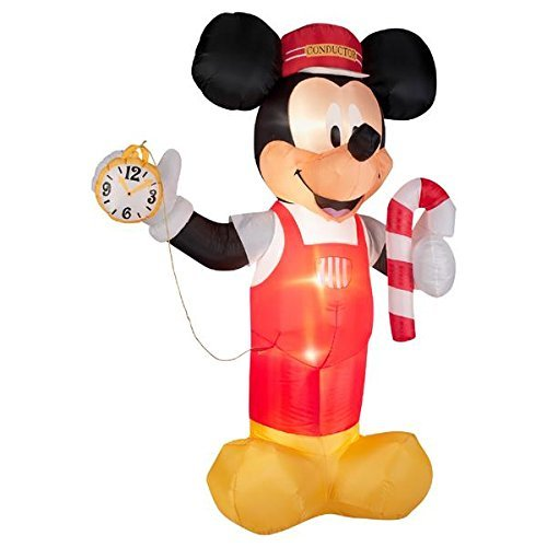 Gemmy Licensed Christmas Outdoor Decorations Mickey Train...