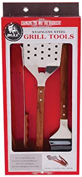 Bull 24100 Vineyard Rosewood 3-Piece BBQ Tool Set