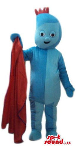 Iggle Piggle blue monster cartoon character SpotSound Mascot US (Iggle Piggle Fancy Dress Costume)