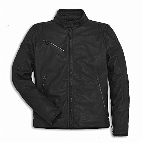 Ducati Men's Downtown Perforated Leather Jacket - Black 56