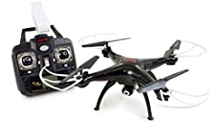 SYMA X5SW FPV RC Drone Headless Quadcopter with 0.3 Megapixels HD Camera 2.4G 6-Axis Medium Helicopter Quad copter Model Package Included: X5SW RC quadcopter with 0.3 megapixels camera x 1 Remote control x 1 Mobile phone holder x 1 User manua...