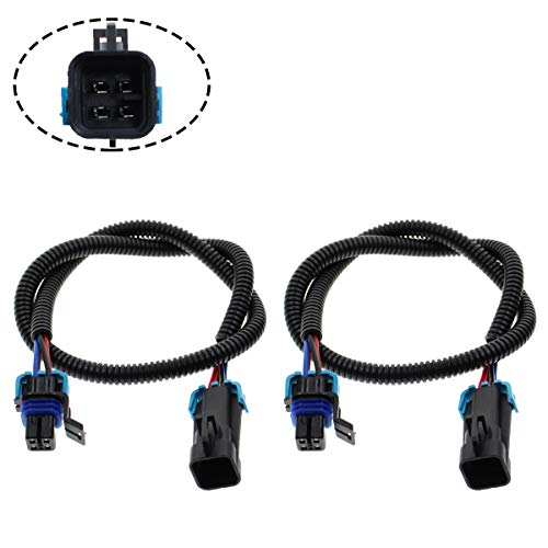 MOTOALL 2pcs Sensor Header Extension Wire Harness Extender Plug Connector Wiring Loom Lead 24