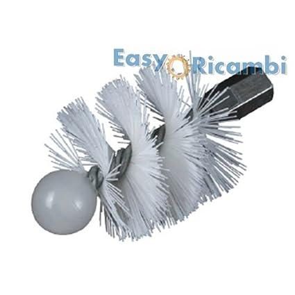 Scovolo Nailon Repuesto para limpieza Tubo Estufa de pellets y chimeneas diámetro 100 mm