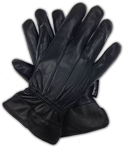 Luxury Soft Men's Genuine Nappa Sheepskin Leather with 3M Thinsulate Gloves (Original, Large) (Mens Dress Gloves Leather)