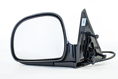 Left Driver Side Mirror Assembly Unpainted for Chevrolet Blazer S10 GMC Jimmy Sonoma Isuzu Hombre Oldsmobile Bravada (1994 1995 1996 ()