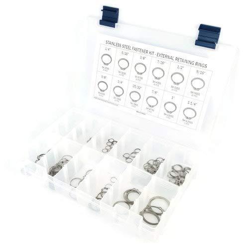 Stainless Steel External Snap Ring Kit 221 Piece Kit