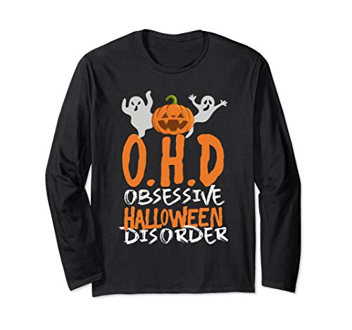 OHD Funny Halloween Holiday Pumpkin Cute Costume Ghost Gift Long Sleeve T-Shirt