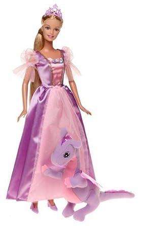 amazon バービー barbie as rapunzel ラプンツェル doll by mattel