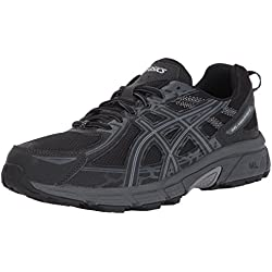 ASICS Mens Gel-Venture 6 Running Shoe, Black/Phantom/Mid Grey, 10 Medium US