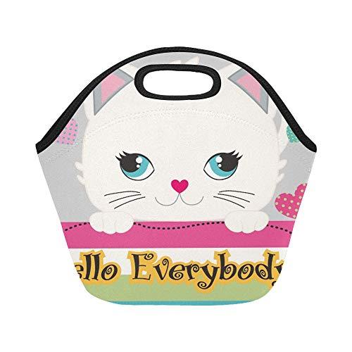 insulated neoprene lunch bag cute
