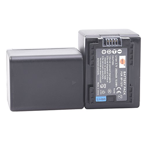DSTE 2x BP-727 Fully Decoded Li-ion Battery for Canon CG-700 VIXIA HF R30 R32 R40 R42 R50 R52 R60 R62 R66 R70 R72 R300 R400 R500 R506 R600 R700 M50 M52 M500 M506 SLR Cameras as BP-727F BP-718