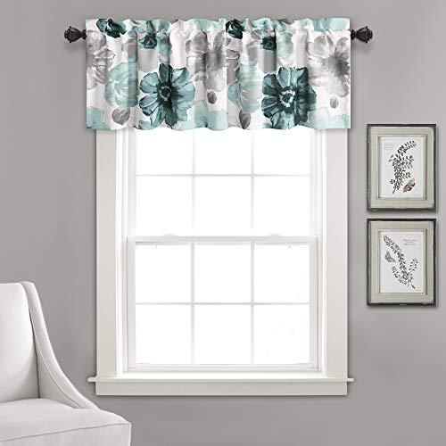 Lush Decor Leah Floral Window Curtain Valance, 18
