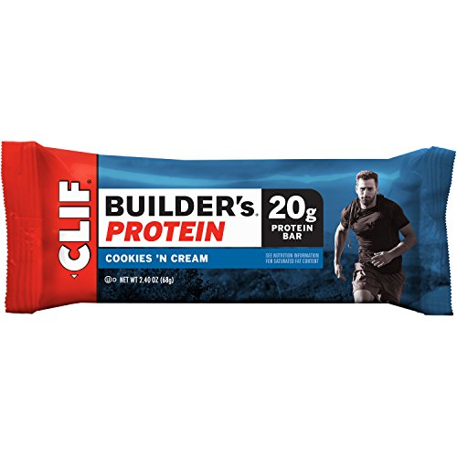 CLIF BUILDER'S - Protein Bar - Cookies and Cream - (2.4 Ounce Bar, 12 Count)