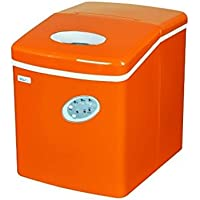 Countertop Mini Compact Portable Ice Cube Maker Machine (Orange)