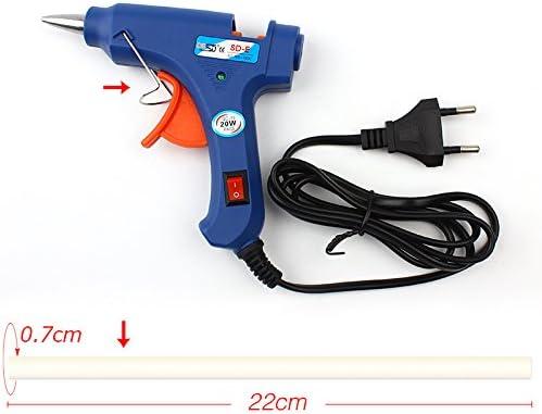 Pistola termofusible 20W//110V-240V azul CuiGuoPing