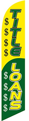 Title Loans Feather Banner Swooper Flag  No Wind Required  Replacement Flag Only