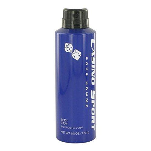 Casino Sport by Casino Perfumes Body Spray (No Cap) 6 oz for Men - 100% Authentic ()