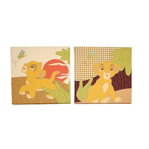 Disney Baby - Lion King 2pc Canvas Wall Art