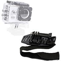 DURAGADGET Bike/Cycle Helmet Strap Mount For Extreme Sports Action Camera SJCam SJ4000 & New SJ5000 | SJ5000x Elite | SJ5000 Plus