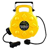 Bayco SL-8903 Professional 13 Amp Retractable Cord Reel, 50-Foot, 3 Outlets