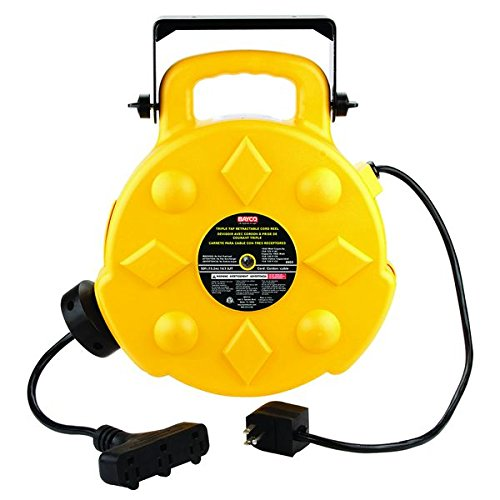 Bayco SL-8903 Professional 13 Amp 50-Foot Retractable Cord Reel, 3 Outlets by Bayco (Image #2)