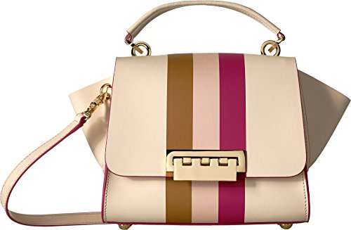 ZAC Zac Posen Eartha Top Handle-Colorblock-Hex Floral Strap, - Posen Zac Satchel Leather