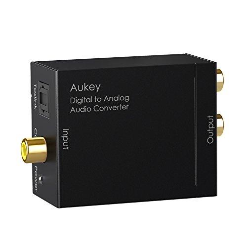 AUKEY Digital zu Analog Audio Konverter Digital optisch Koaxial Toslink Signal zu L/R Audio für Blu-ray DVD HDTV PS3 Xbox und so weiter
