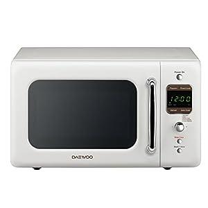Daewoo KOR-7LREW Retro Countertop Microwave Oven 0.7 Cu. Ft, 700W | Cream White
