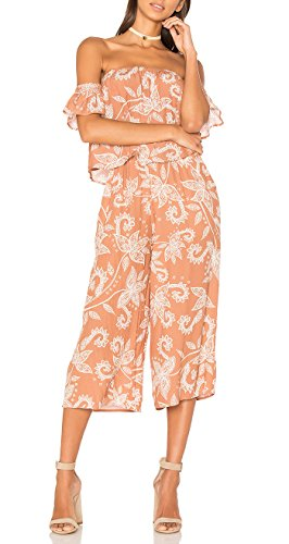 Mink Pink Nusa Dua Off Shoulder Jumpsuit (L, Multi) by MINKPINK