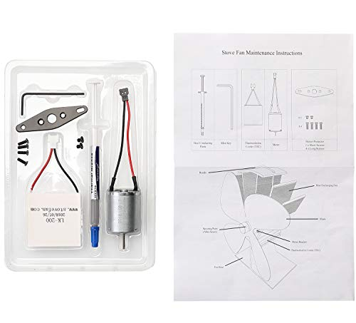 Stove Fan Replacement Kit-Replacement Motor and Replacement for Wood Stove Fan …