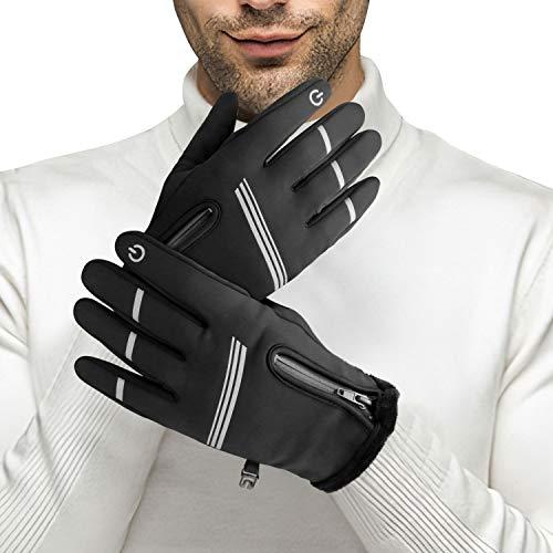 Winter Gloves, Tsuinz Cycling Gloves Touchscreen Gloves Warm Gloves Running Gloves for Cycling Running Driving Men Women