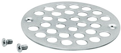 """Westbrass 4"""" O.D. Sold Brass Shower Strainer Cover, Polished Chrome, D3192-26"""