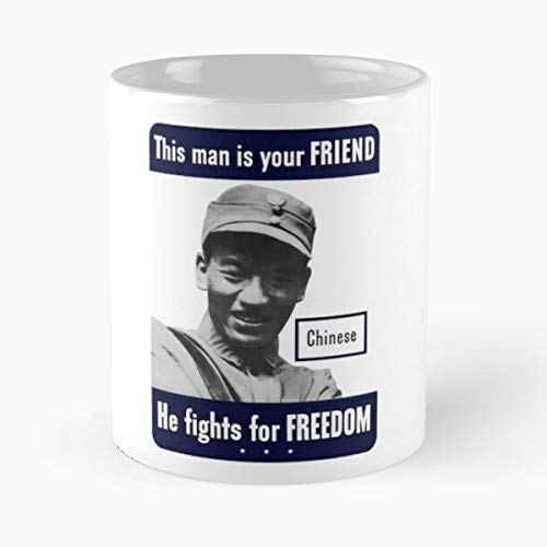 (Chinese Soldier World War Ii Ww2 Two Coffee Mugs Best Gift 11 Oz)