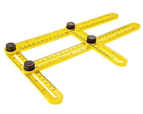 EZ-Angler Measuring & Template Tool | Perfect for Difficult Angles | Saves Time, Helps Eliminate Mistakes | For Hanging Tile, Laying Floors, Cutting Stone ...
