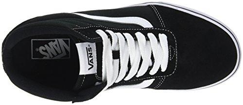 Suede Alto Nero a Sneaker Suede Vans Uomo Black Canvas White Collo C4r Ward Hi Canvas 0wqzfvg