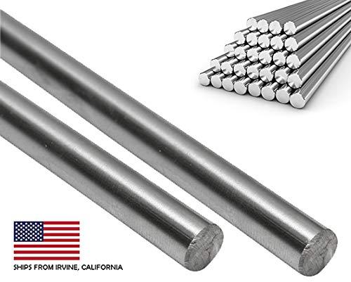 (2 PCS) 8mm x 330mm (.315'' x 13'') Case Hardened Chrome Linear Motion Rods/Shafts / Guides - Metric G6 Tolerance CNC 3D Printers