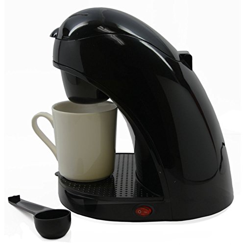 Brentwood TS-112B Single Cup Coffee Maker Cup & Spoon Bundle Black Home & Garden
