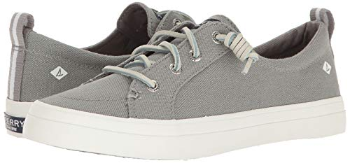 Sperry Womens Crest Vibe Linen Sneaker, Grey, 6