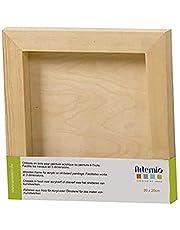 Artémio fotolijst, vierkant, 20 cm, houten decoratieve bouten