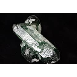 Museum Collection Real Tibet Himalayan High Altitude Clear Green Crystal Geode Quartz Cluster 5.51 Inch 1.62 lb Spiritual Reiki Healing