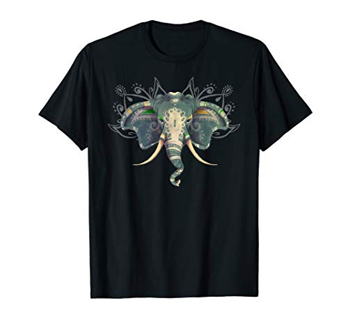 Sugar Skull Elephant  shirt Day Of The Dead Halloween Shirt ()
