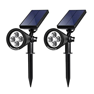 InnoGear Solar Lights Spotlight Outdoor Landscape Lighting Waterproof Wall Light Security Night Lights