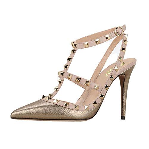 Vocosi Sandali Con Il Cinturino Per Le Donne, Scarpe Con I Tacchi A Punta E Sandali Con I Tacchi Alti